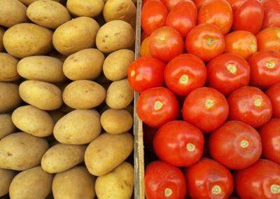 Tomates y papas