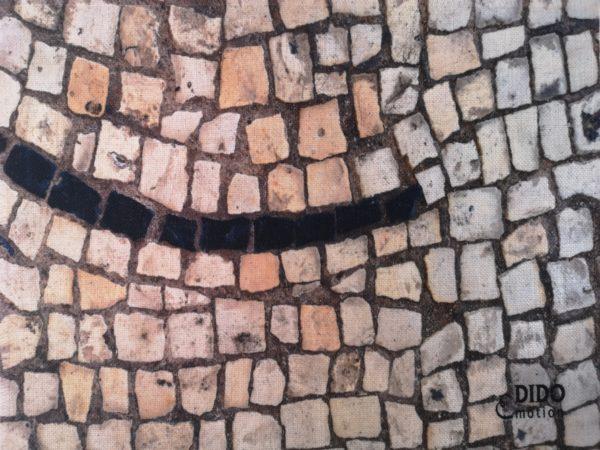 mantel-lino-mosaico-linea-negra